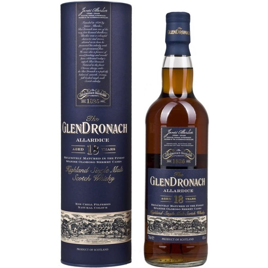 Glendronach 18 Year Old Allardice Highland Single Malt Scotch Whisky (700ml - 46%)