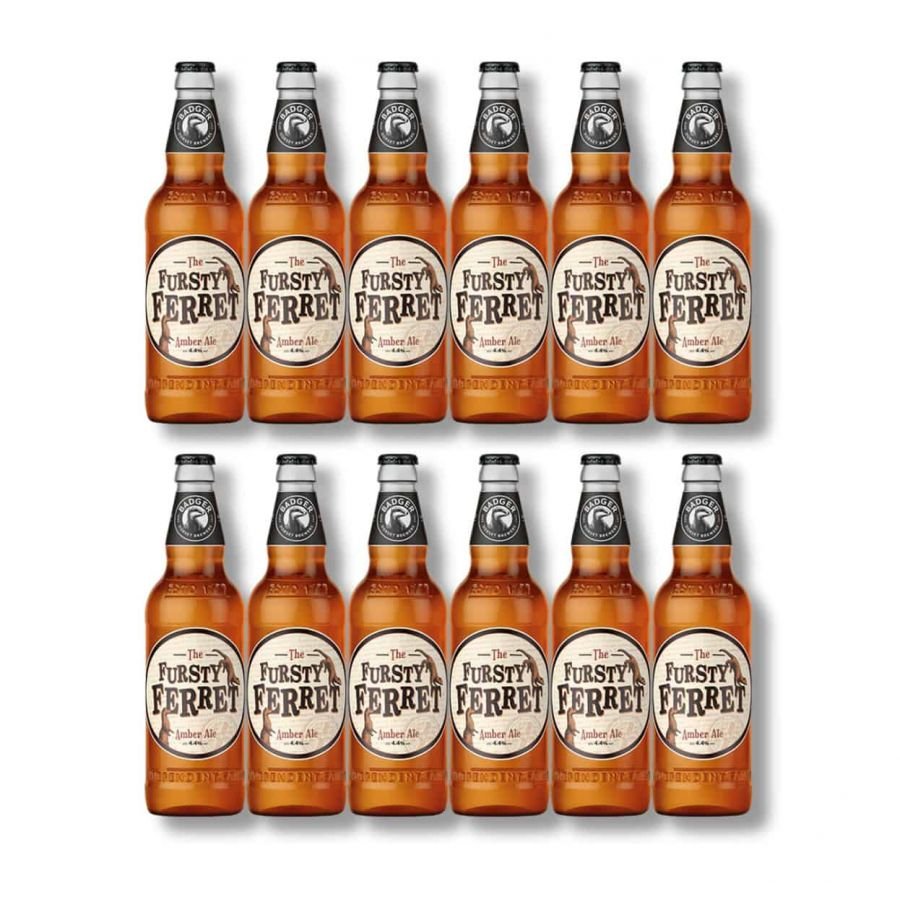 Badger's Fursty Ferret Amber Ale Bottles (12 x 500ml - 4.4%)