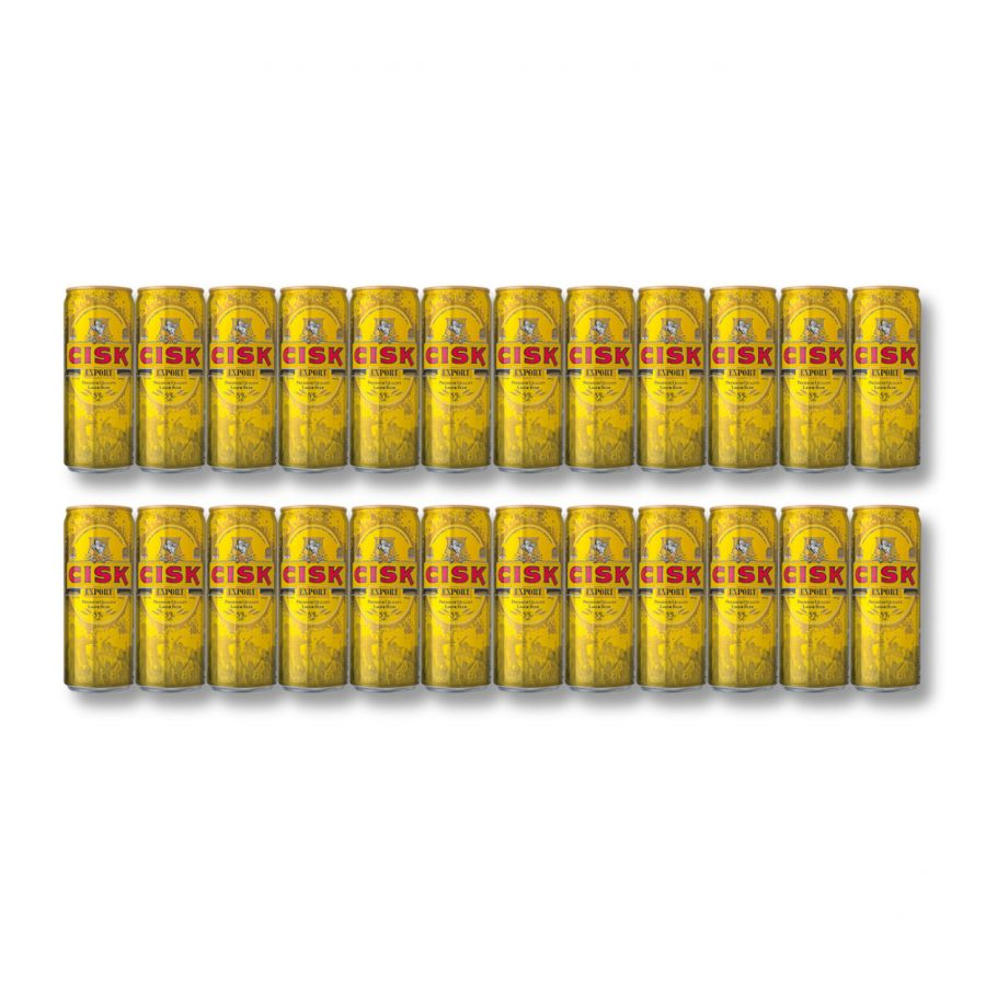 Cisk Export Premium Maltese Lager Cans (24 x 330ml - 5%)