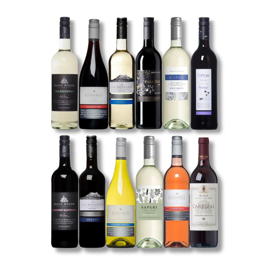 Easy Drinking Wine Selection (12 x 750ml - 13%)