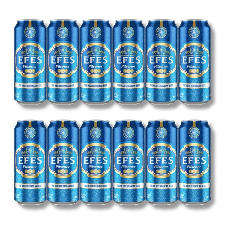 EFES Pilsner Lager Cans (12 x 500ml - 5%)