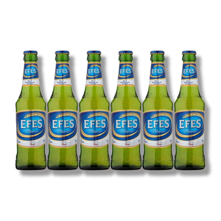 EFES Pilsener Lager Bottles (6 x 330ml - 5%)