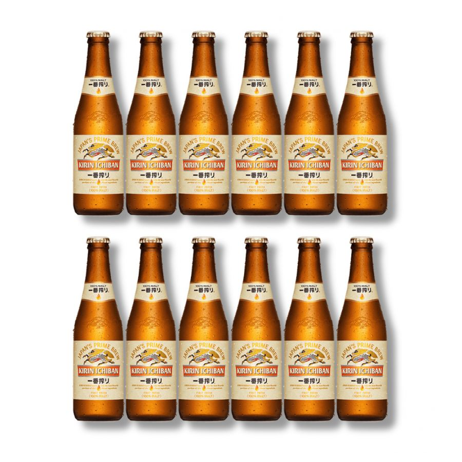 Kirin Ichiban Japanese Beer (12 x 330ml - 5%)
