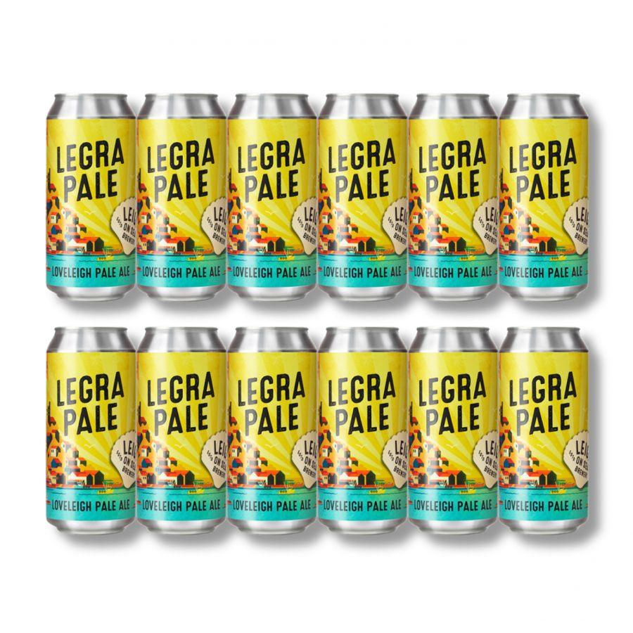 Legra Pale Ale by Leigh on Sea Brewery (12 x 440ml Cans - 3.8%)