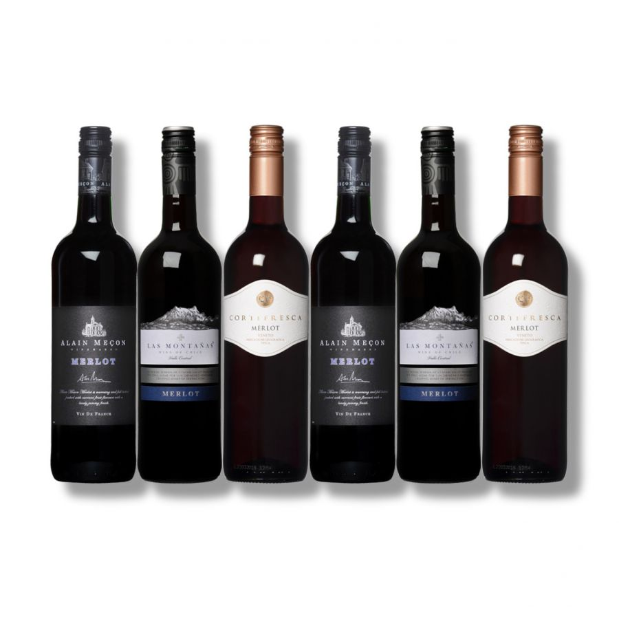 Merlot Mixed Case  (6 x 750ml - 12%)