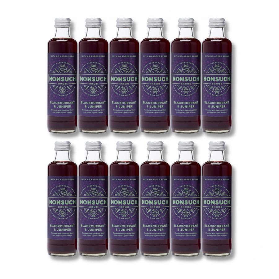 Nonsuch Shrubs Blackcurrant & Juniper (12 x 250ml)