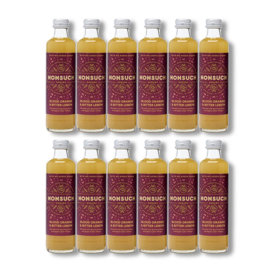 Nonsuch Shrubs Blood Orange & Bitter Lemon (12 x 250ml)