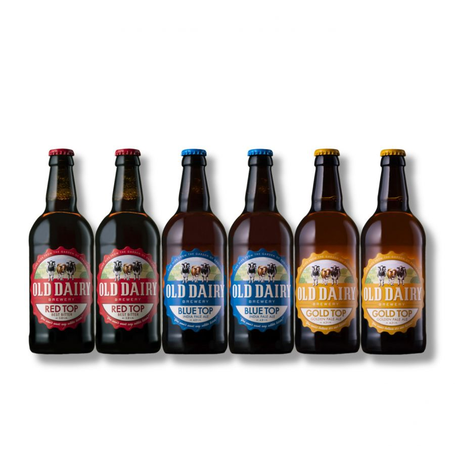 Old Dairy Red, Blue and Gold Top Mixed Case (6 x 500ml - 4.8%)