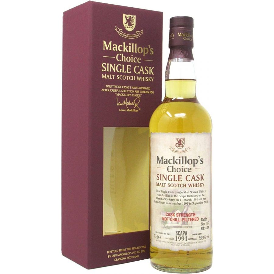 MacKillop's Choice Single Cask 1991 Scapa (700ml 55.9%)