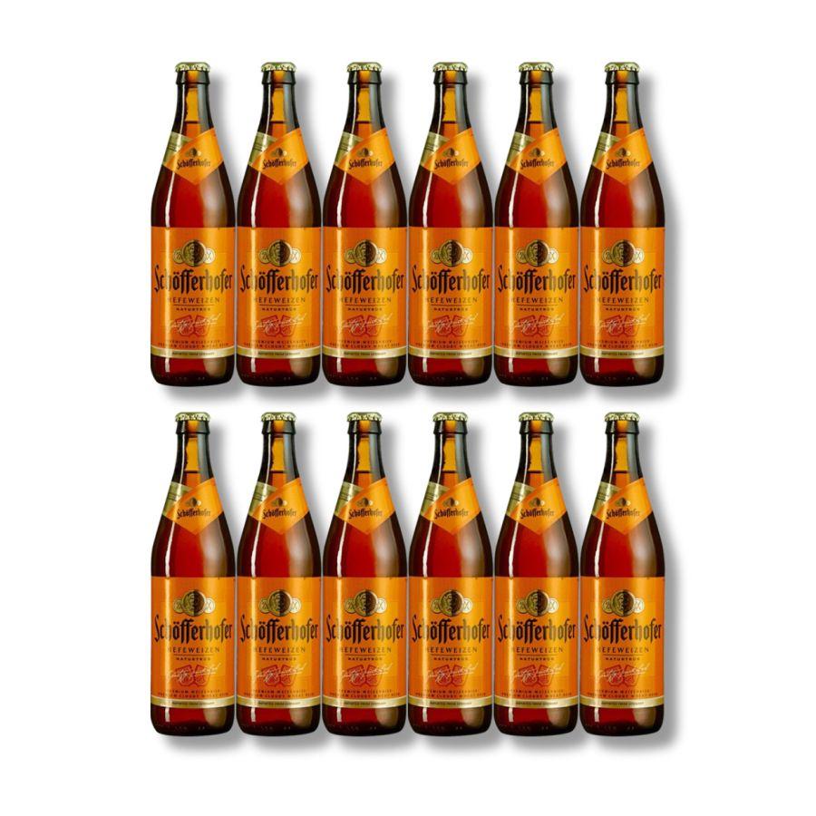 Schöfferhofer Hefeweizen (12 x 500ml Bottles - 5%)